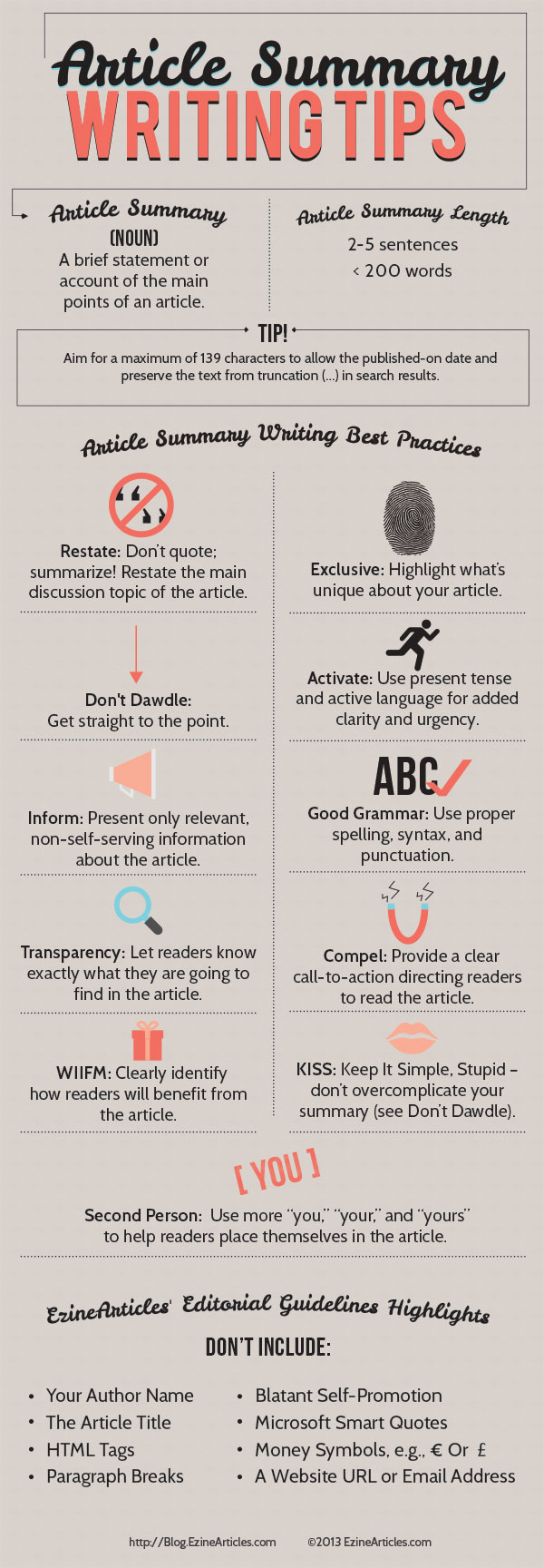 Top 10 Summary Writing Tips