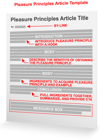 pleasure principles article template