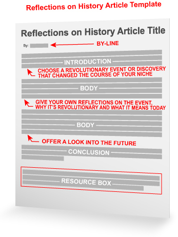 reflections on history article template article writing
