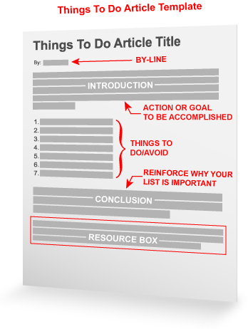 Things You Must Do Article Template