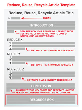 reduce reuse recycle article template article writing