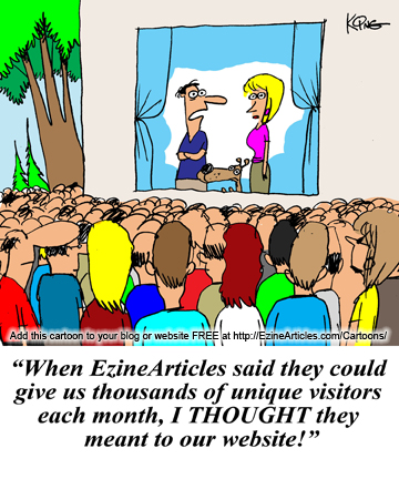 EzineArticles Cartoon
