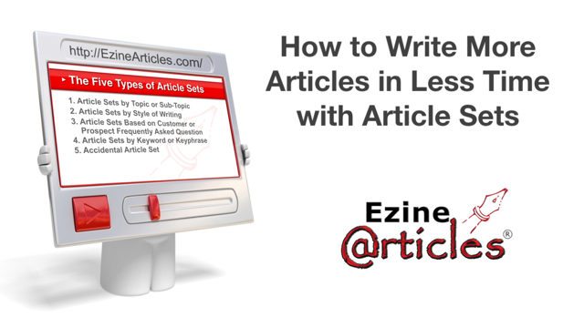 How to Write More Articles in Less Time with Article Sets