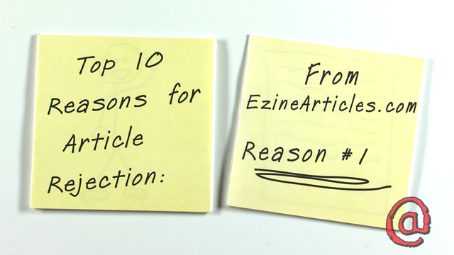Top 10 Reasons for Article Rejection: Reason #1 - A Combination of Issues