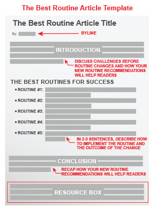 The Best Routine Article Template