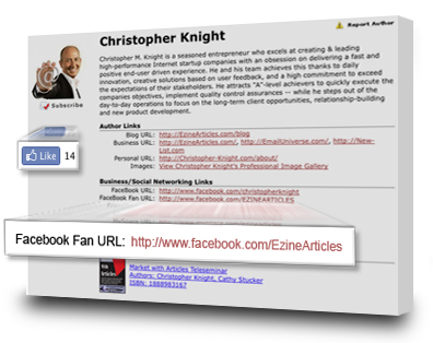 More Facebook Upgrades for Your Author Bio « Article Writing