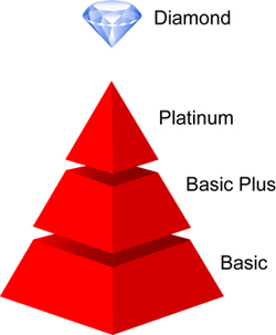 Membership Levels Pyramid