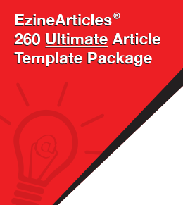 EzineArticles 260 Ultimate Article Template Package - EzineArticles Shop